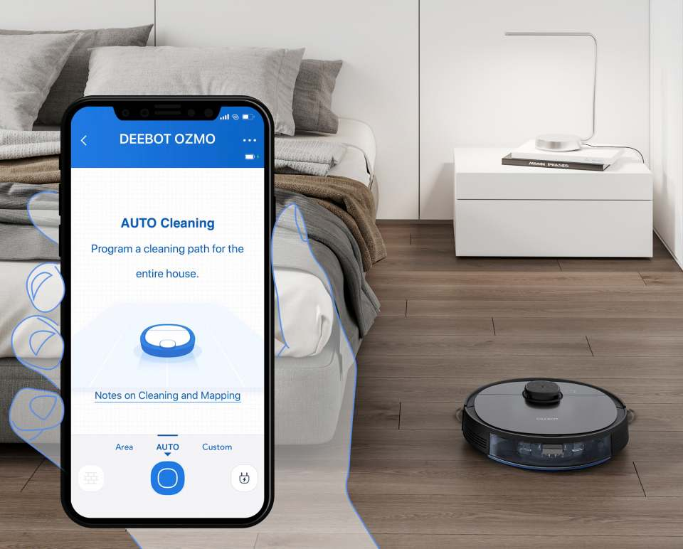 Ecovacs Saugroboter DEEBOT OZMO 950 mit Multi-Floor Mapping.