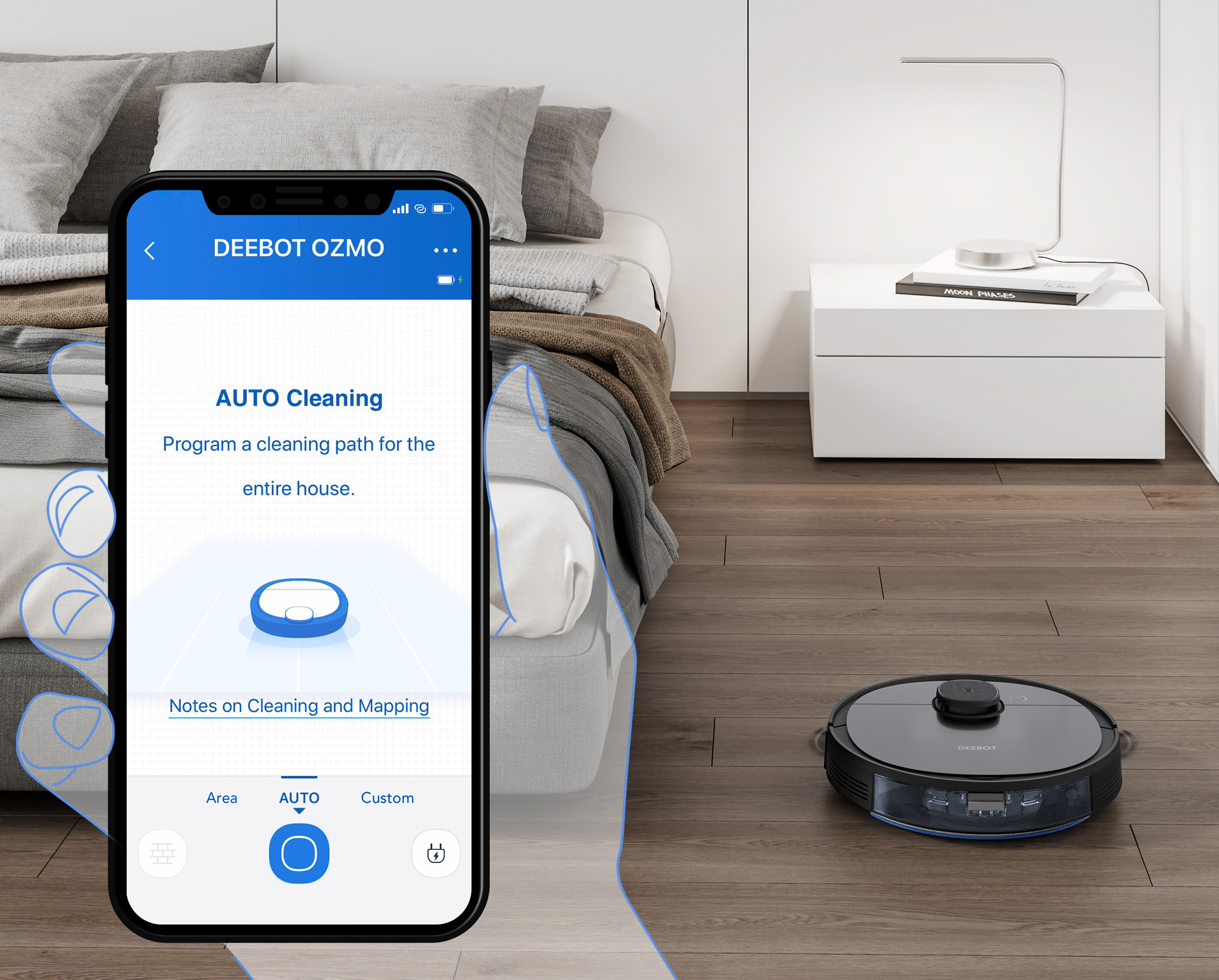 <h1>Ecovacs Saugroboter DEEBOT OZMO 950</h1><h3 style='font-size: 20px; margin: 0px 0px 15px 0px;'> -Saug- und Wischroboter, Multi-Floor Mapping</h3>