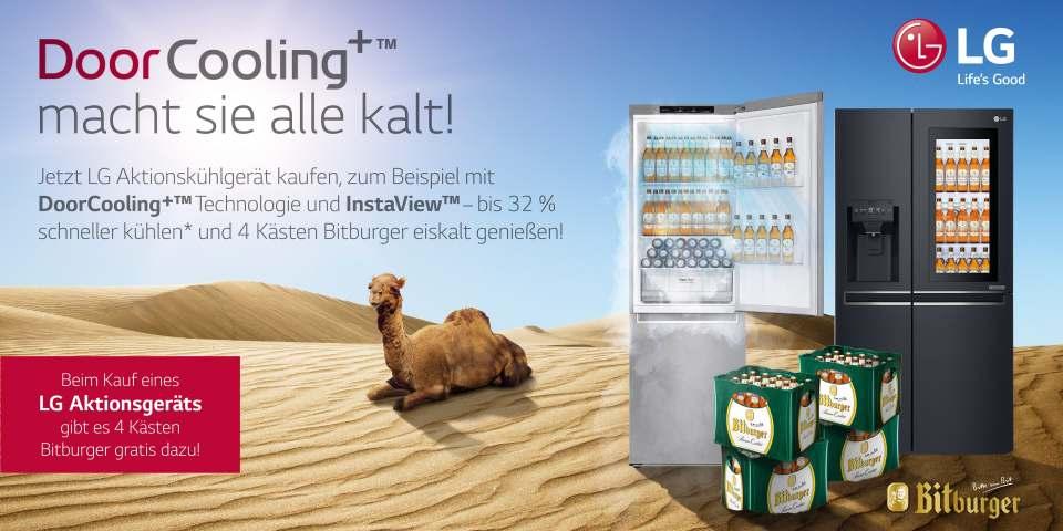 Aktion: LG Kühlgeräte plus Bitburger.