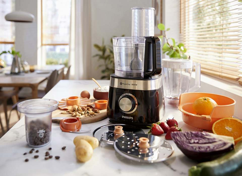 Philips Küchenmaschine Viva Collection, Food Prozessor mit zahlreichen Funktionen.