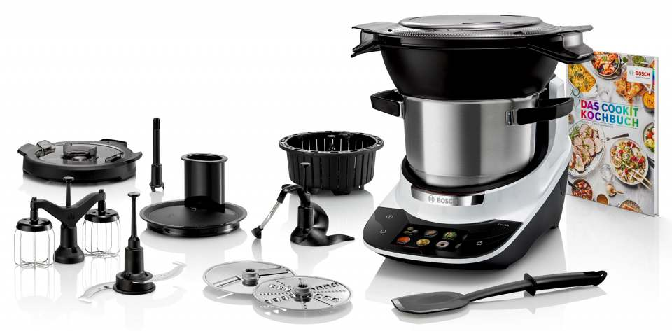 Bosch Küchenmaschine Cookit - Multifunktions-Küchenmaschine mit Kochfunktion.
