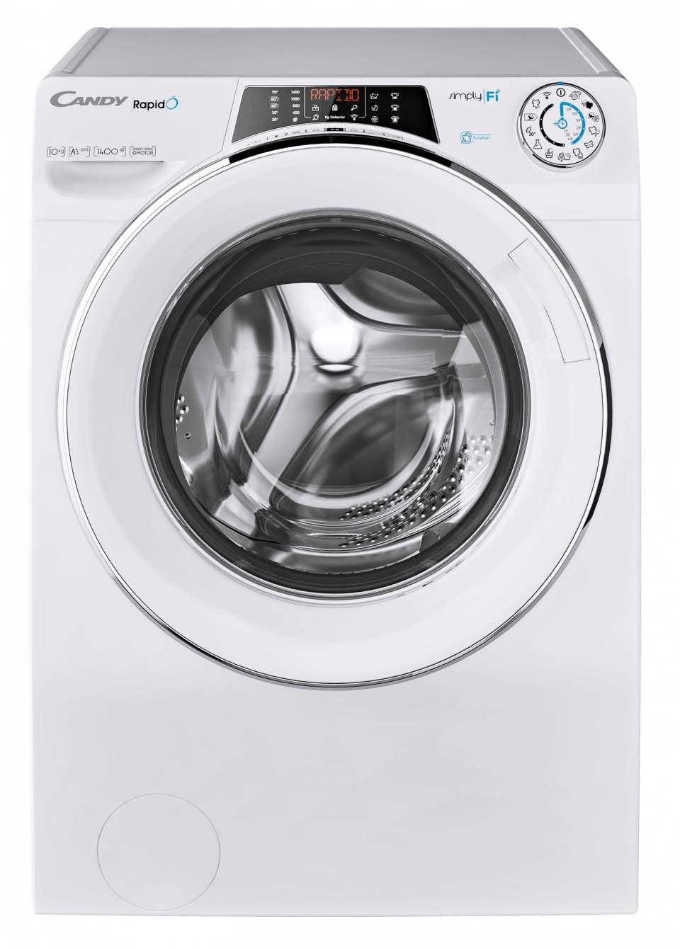 Candy Waschmaschine Rapid'Ò mit 9 Schnellwaschprogrammen.