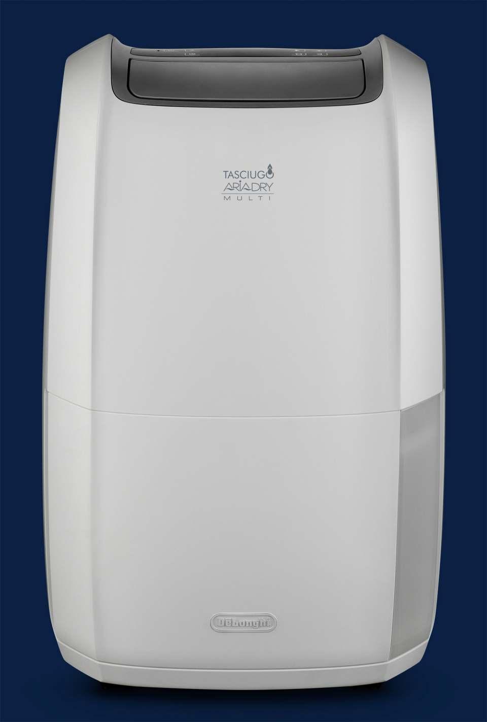 De'Longhi Luftentfeuchter Comfort mit 4-fach-Filtersystem.