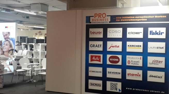 Starker Auftritt: ProBusiness bildete in der zweiten Etage des Ausstellungszentrums einen Kleingeräte-Cluster.
