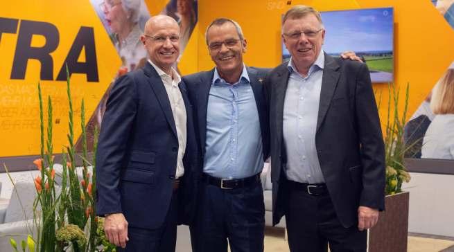 Der expert-Vorstand auf der IFA 2019 (v.l.): Frank Harder, Dr. Stefan Müller (Vors.) und Gerd-Christian Hesse.