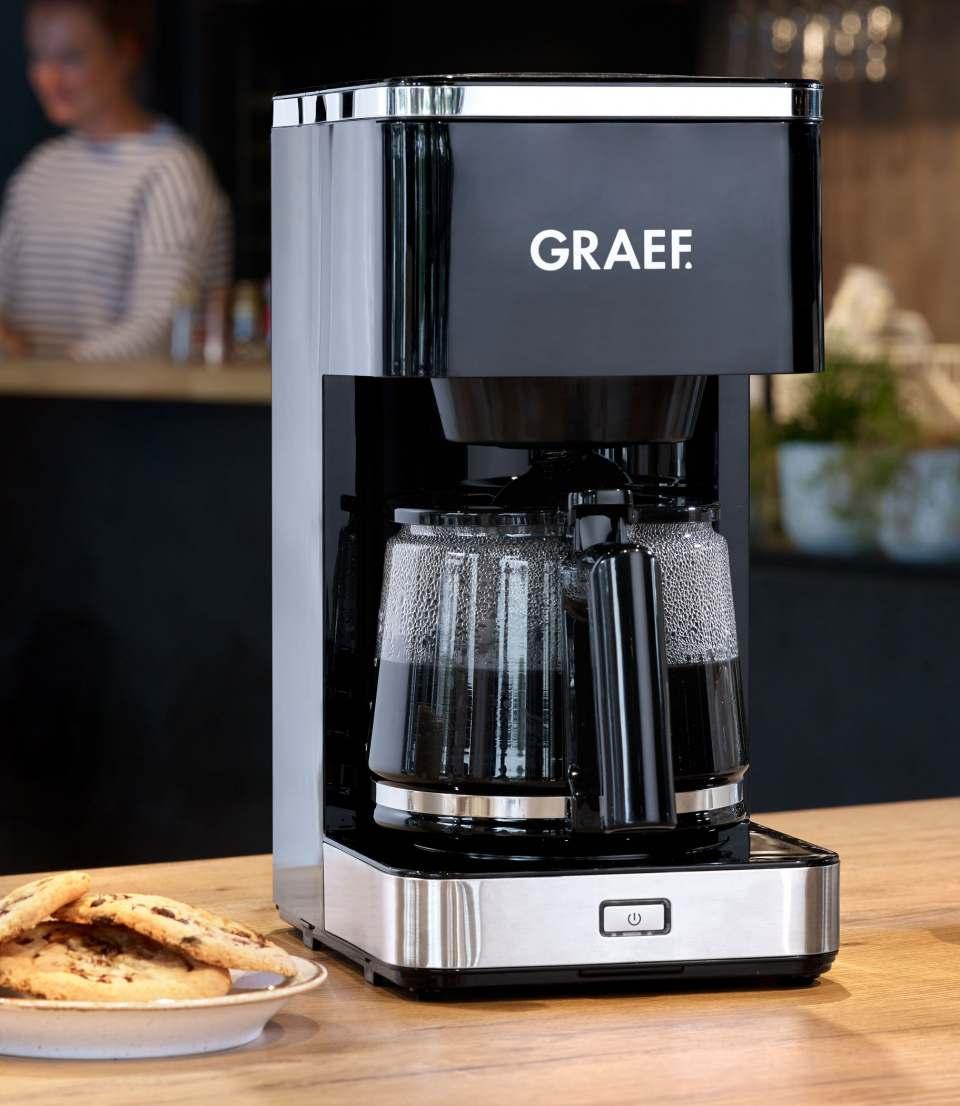 Graef Filterkaffeemaschine FK 400 mit Glas- oder Thermokanne.
