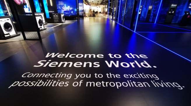 Die Siemens World vermittelt dank Vernetzung, intelligenter Technologie und Design ein müheloses, urbanes Leben.
