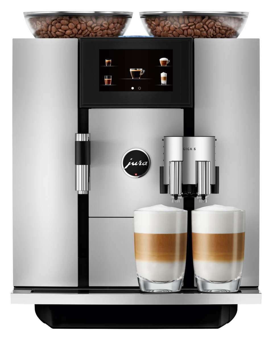 Jura Kaffeevollautomat Giga 6 mit zwei Keramikscheiben-Mahlwerken.