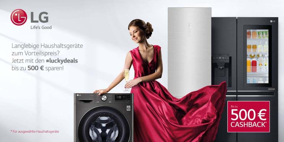 LG luckydeals mit bis zu 500 € Cashback.