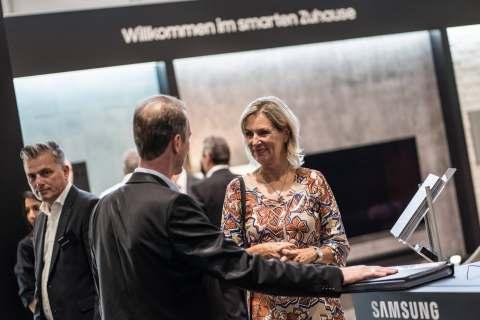 Samsung ist in Löhne angekommen: das Standkonzept hatte Vorbild-Charakter. (Foto: area30)