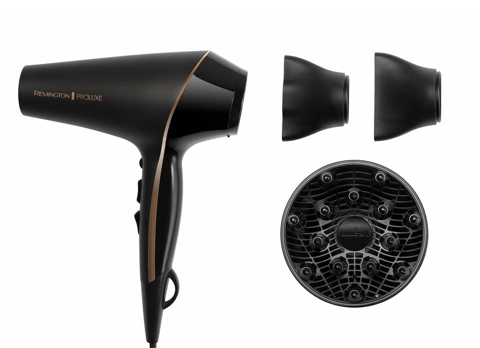 Remington Haartrockner PROluxe Midnight Edition mit OPTIheat-Technologie.