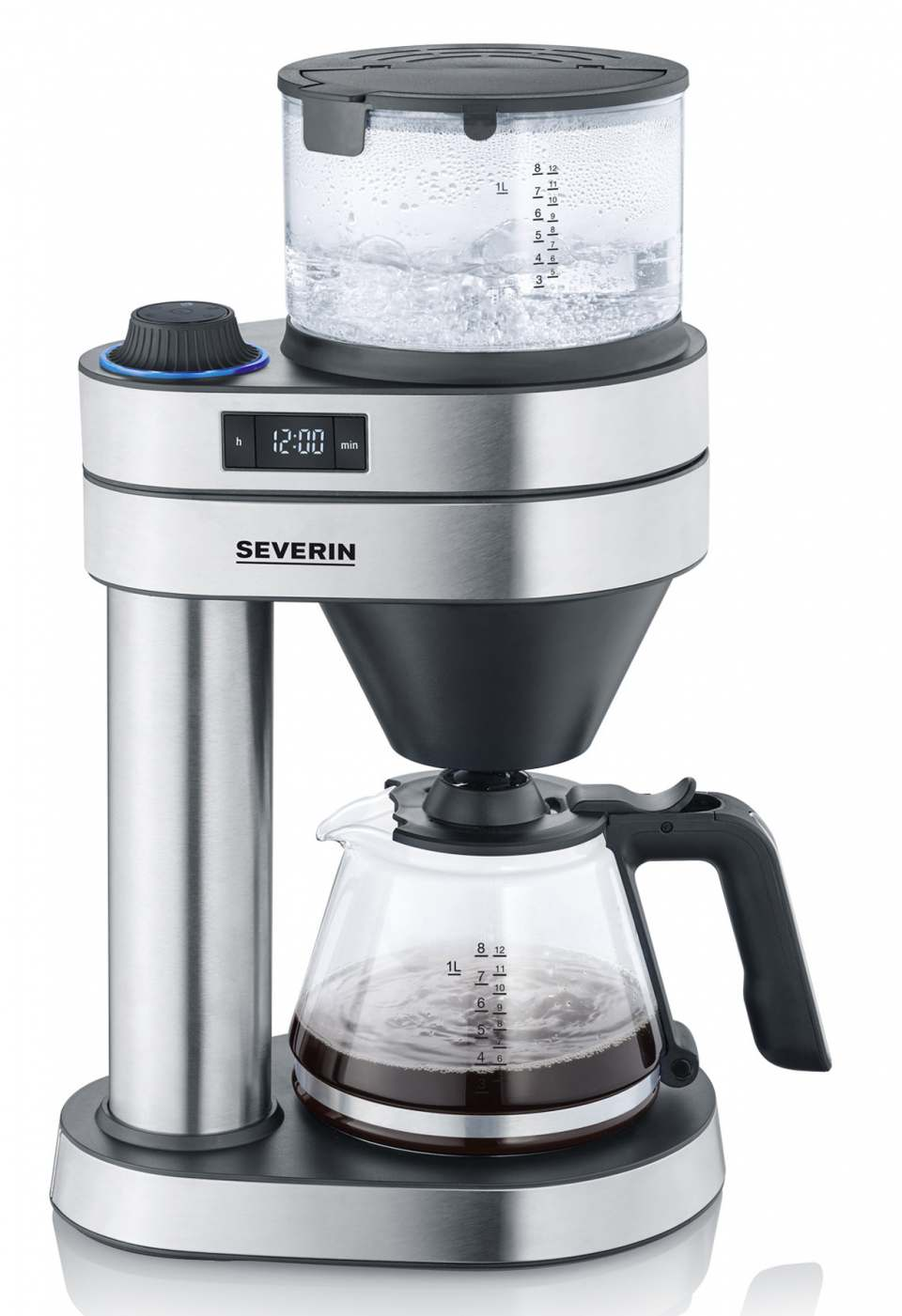 Severin Kaffeemaschine Caprice mit Glas- oder Thermokanne.