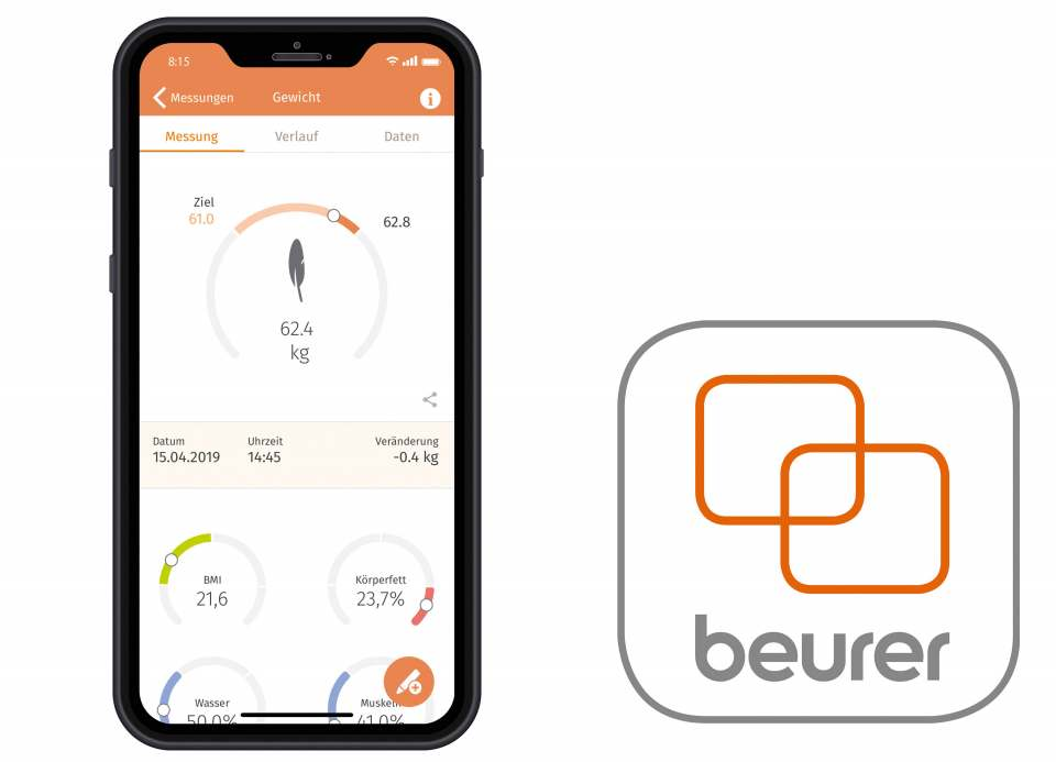 "Hat alles im Blick: die ""beurer HealthManager"" App."