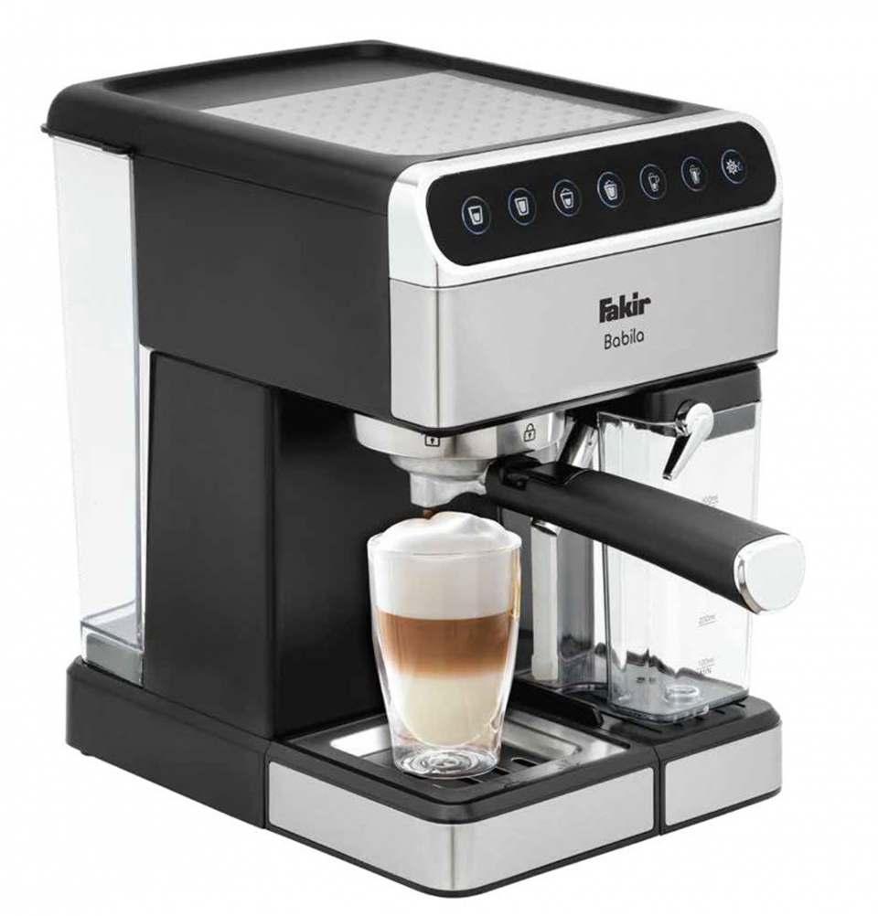 Fakir Espressomaschine Babila bereitet Espresso, Cappuccino und Latte per Knopfdruck.