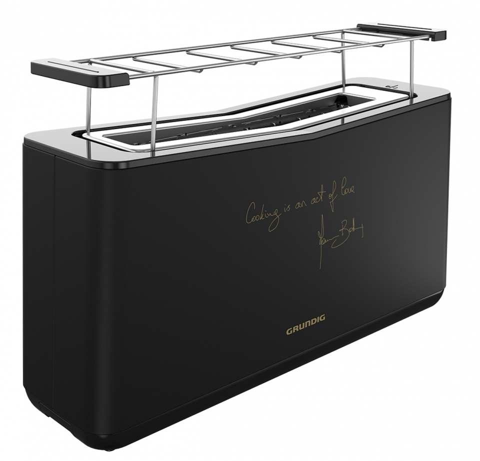 Grundig Toaster Massimo BotturaTA 8680 MBC mit Unterschrift des Sternekochs.