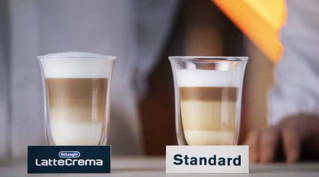 Das LatteCrema System von De'Longhi erzeugt mit der optimalen Mischung von Dampf, Milch und Luft für einen besonders cremigen Milchschaum.