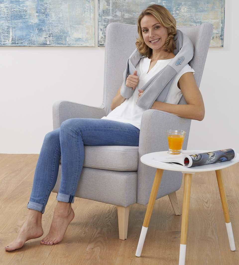 Medisana Nackenmassagegerät Komfort Shiatsu NMG 850 mit Soft-Touch-Technologie.