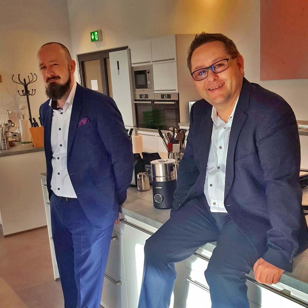 Dynamisch und erfolgreich durch die Transformation (v.l.) Sascha Steinberg und Christian Strebl.