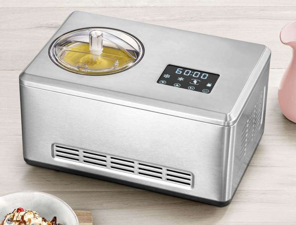Severin Eismaschine EZ 7406 für die Zubereitung von Eis, Sorbet, Frozen Joghurt, Joghurt.