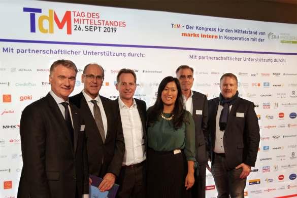 Begeistert vom TdM (v.l.): Horst Nikolaus (Jura), René Efler (mi), Michael Haiminger (Liebherr), Johanna Graef (Graef), Michael Brandt (Liebherr) und Markus Bisping (Beurer).