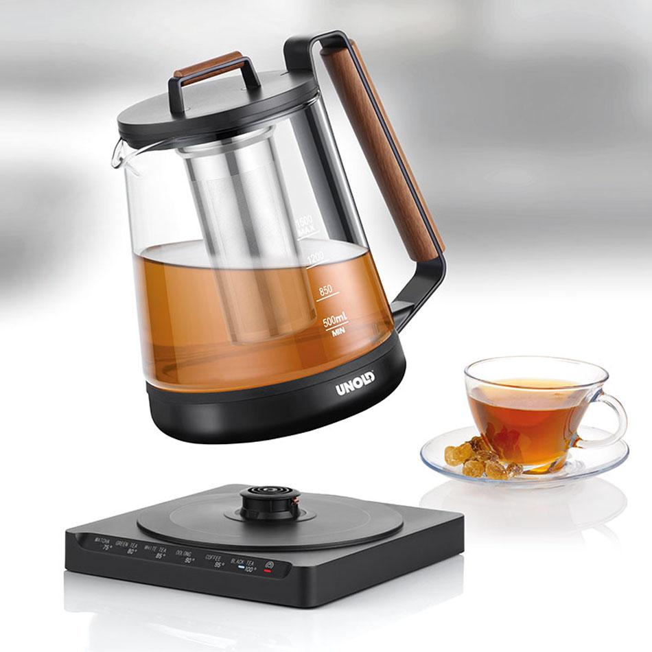 Unold Wasser- Teekocher Digital mit Teesieb.