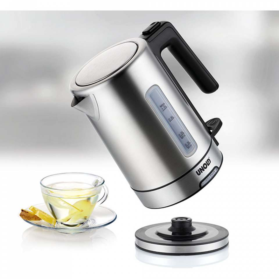 Unold Wasserkocher One mit Kalkfilter.