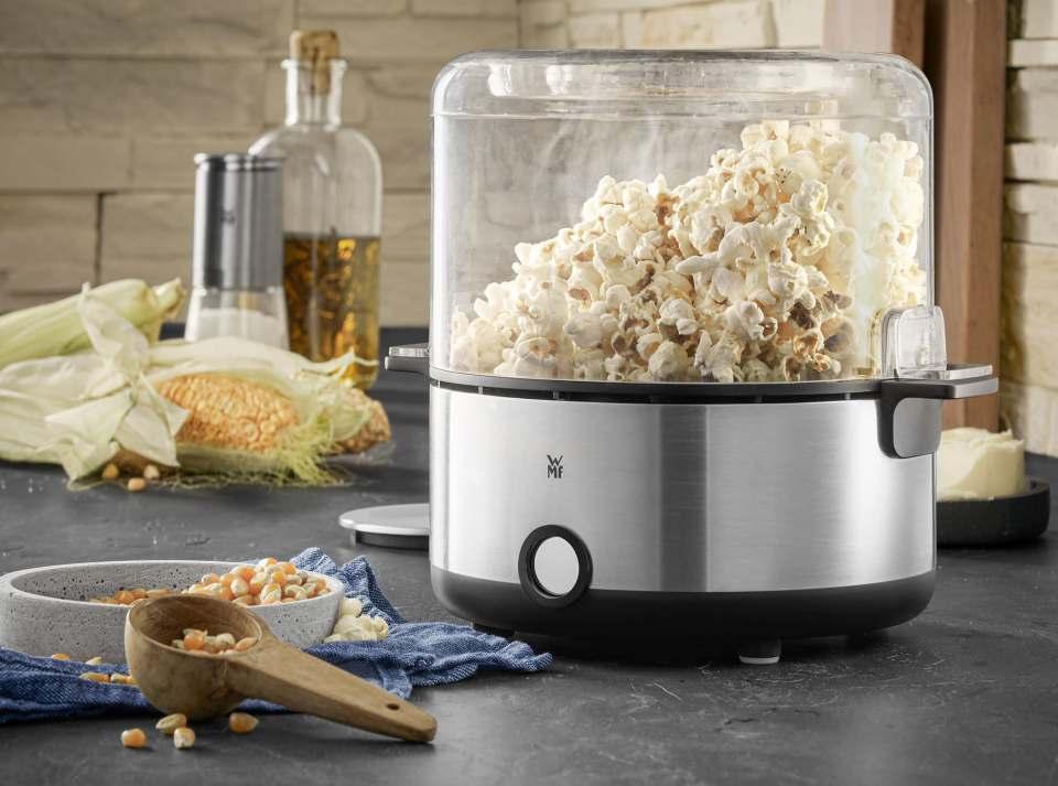 WMF KÜCHENminis Popcorn Maker arbeitet ohne klebrige Rückstände.