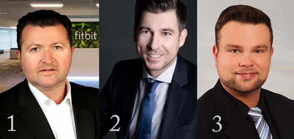 1 | Verantwortet 25 Länder in Zentraleuropa: Michael Maier. 2 | Bartosz Mikulski übernimmt bei Fitbit die Position des Sales Manager Eastern Europe. 3 | Daniel Williams wird zum Key-Account-Manager Mail-Order/Department-Stores/Online-Channels befördert.