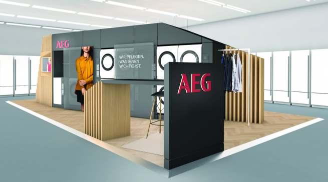 """Im Hamburger Pop-up-Store bei Saturn setzt AEG auf die Kompetenzfelder """"Care"""" mit der Expertise bei der Wäschepflege …"""