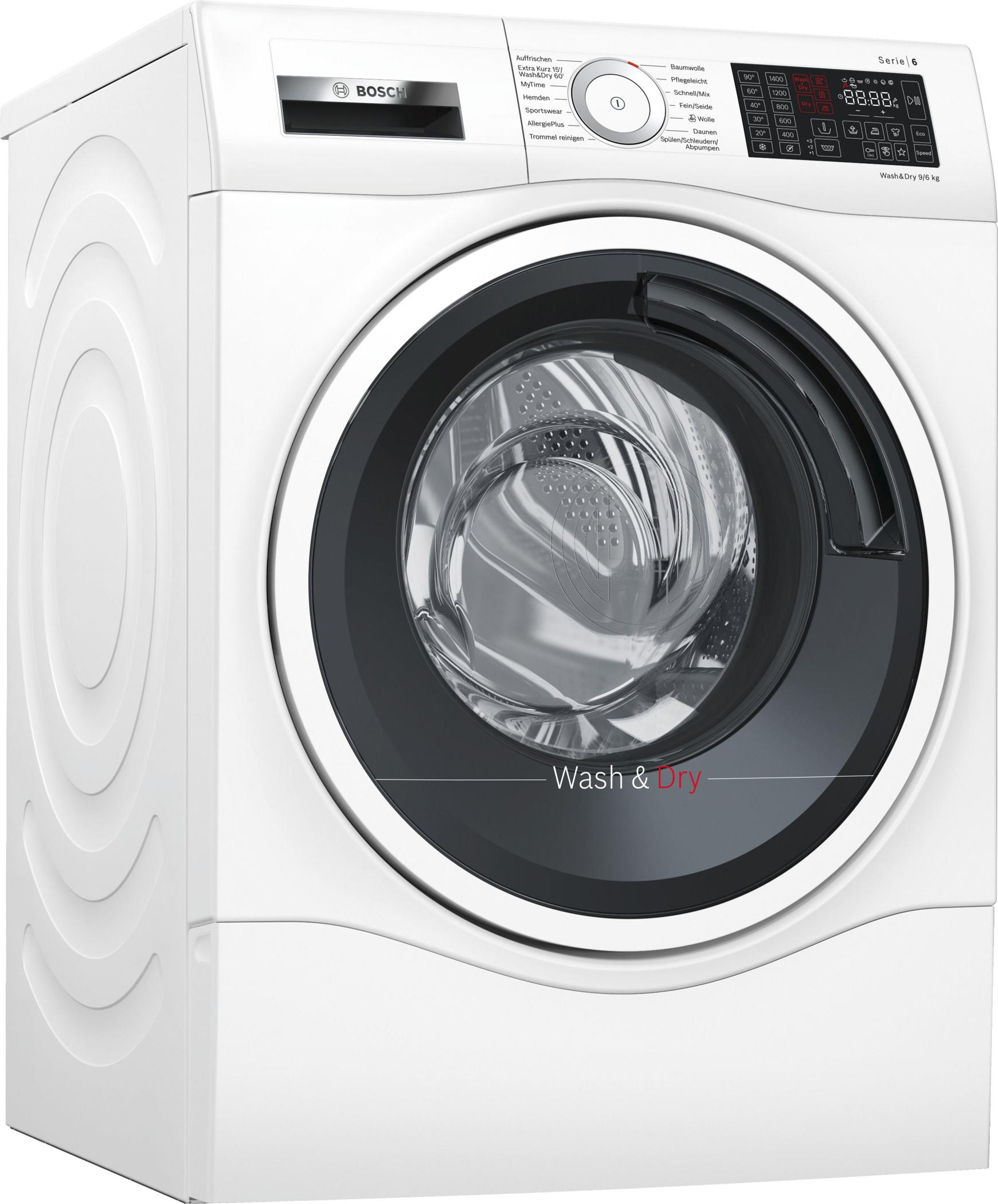 Waschtrockner liegen im Trend. Platz 1 für Bosch bei Stiftung Warentest.