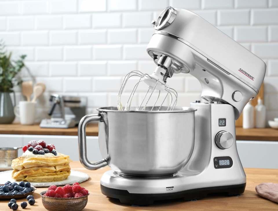 Gastroback Küchenmaschine Design Advanced Digital mit automatischer Anpassung der Motorleistung.