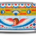 Smeg Toaster Dolce & Gabbana mit mit sizilianischen Dekor-Motiven.