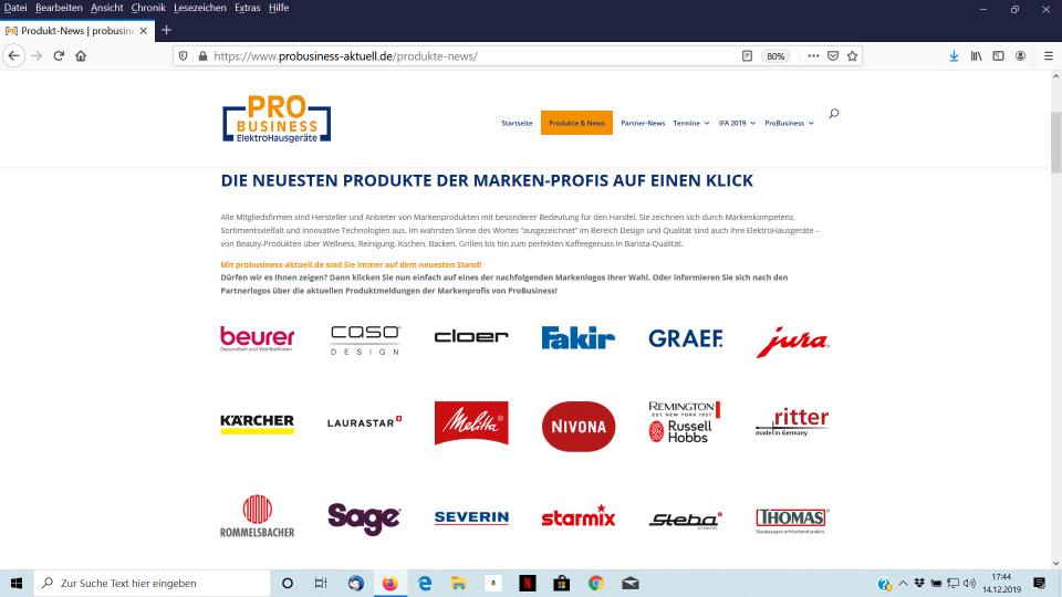 """Frisch gestrichen: Die Website von ProBusiness wurde um das Untermenü """"Produkte & News"""" ergänzt."""
