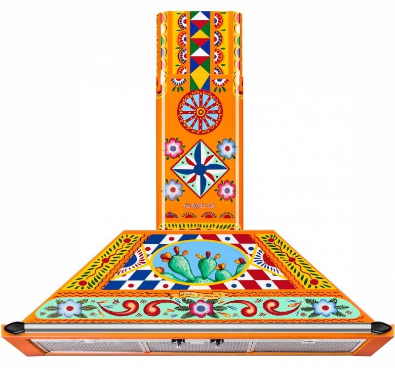 <h1>Smeg Dunstabzugshaube Dolce & Gabbana</h1><h3 style='font-size: 20px; margin: 0px 0px 15px 0px;'> -Sondermodell mit sizilianischem Dekor in leuchtenden Farben</h3>