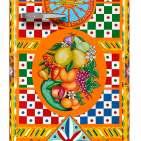 Smeg Kühlschrank Dolce & Gabbana in leuchtendem Dekor des Südens.
