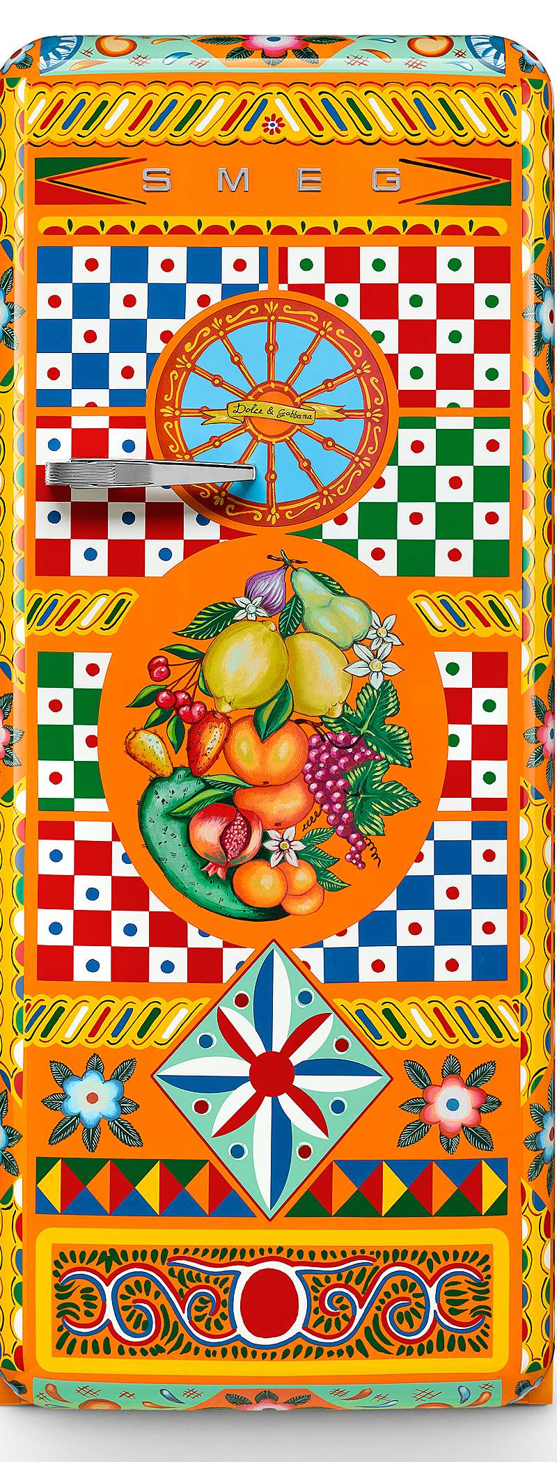 <h1>Smeg Kühlschrank Dolce & Gabbana</h1><h3 style='font-size: 20px; margin: 0px 0px 15px 0px;'> -Sondermodell in leuchtenden Farben des Südens</h3>
