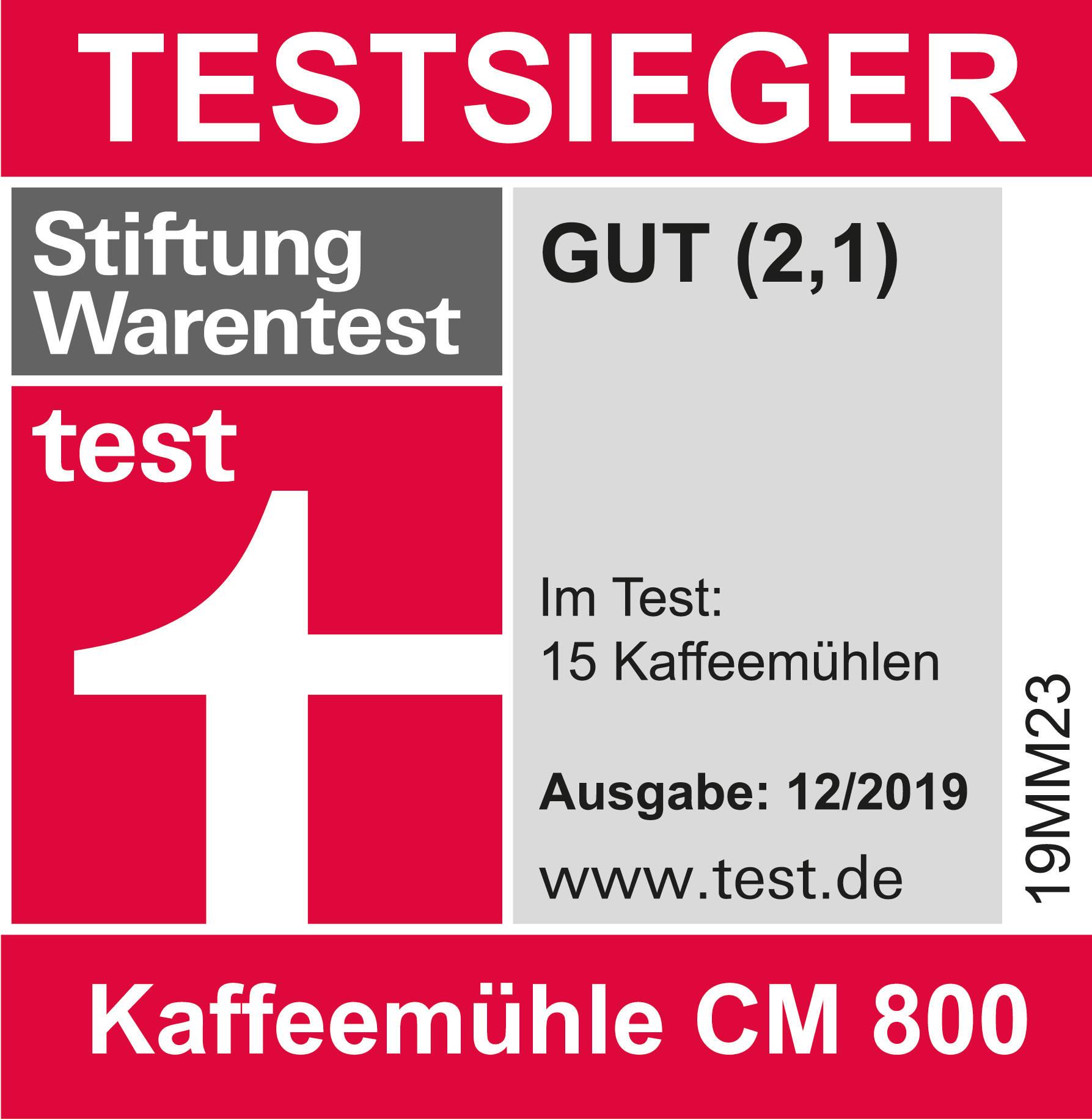 Stiftung Warentest Kaffeemühlen Graef CM 800