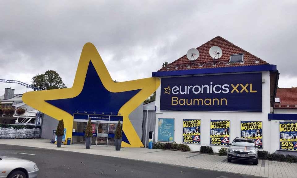 Der Euronics XXL Markt von außen.