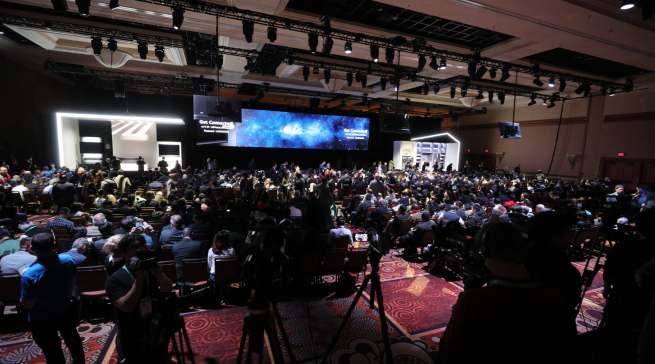 Gewaltiges Medien-Interesse: Presekonferenz von LG auf der CES.