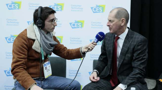Musste beinahe unentwegt Interviews geben: Gary Shapiro, CES-macher und CEO der Consumer Technology Association.