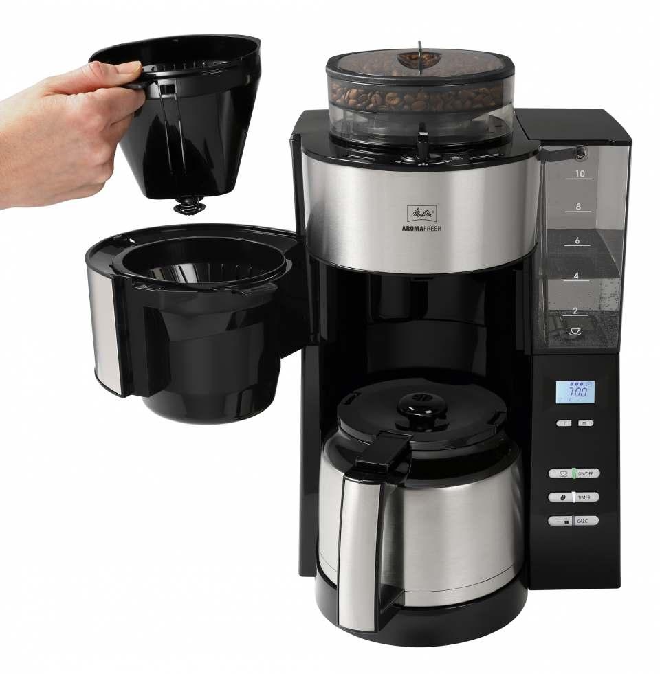 Melitta Kaffeemaschine AromaFresh Therm mit Mahlwerk.