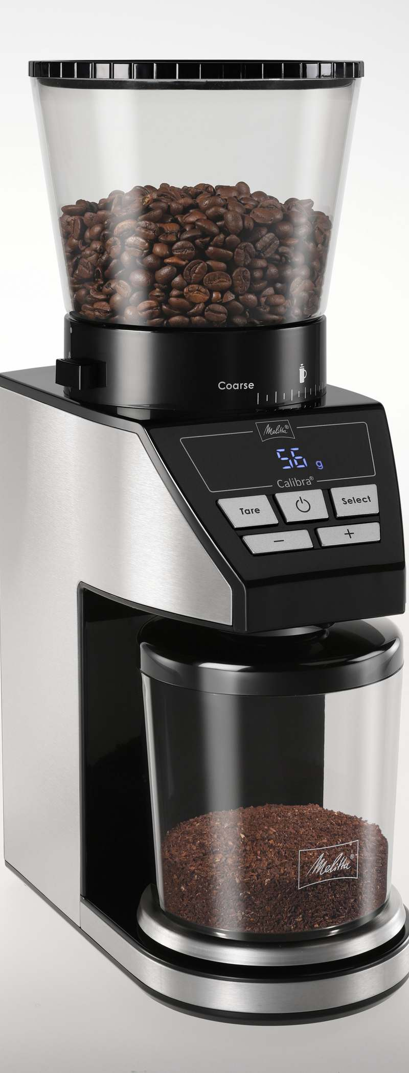 <h1>Melitta Kaffeemühle Calibra</h1><h3 style='font-size: 20px; margin: 0px 0px 15px 0px;'> -39 Mahlgradeinstellungen, integrierte digitale Waage</h3>