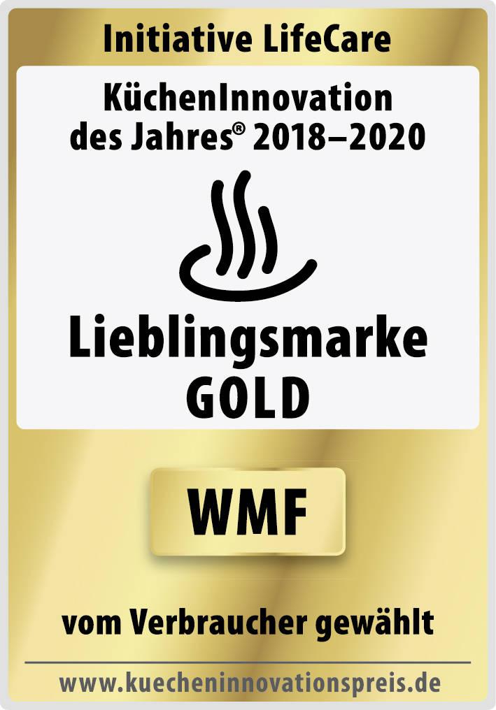 """Auszeichnung für WMF: """"Lieblingsmarke in Gold""""."""