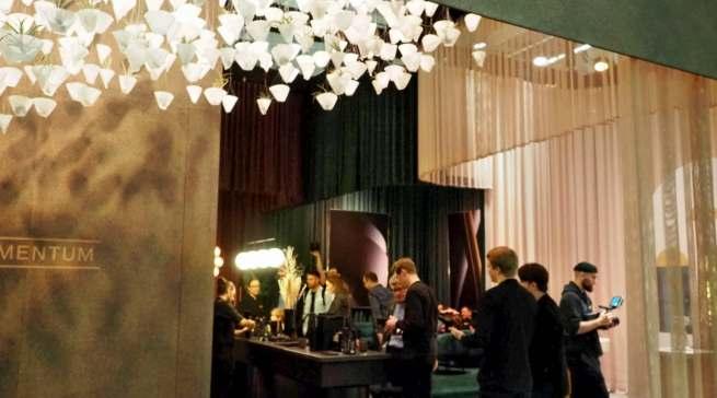 Sorgte für Aufsehen und Gesprächsstoff: Melitta mit der neuen Pour Over Range in Halle 4. Fotos: Gabriel Wagner, Messe Frankfurt