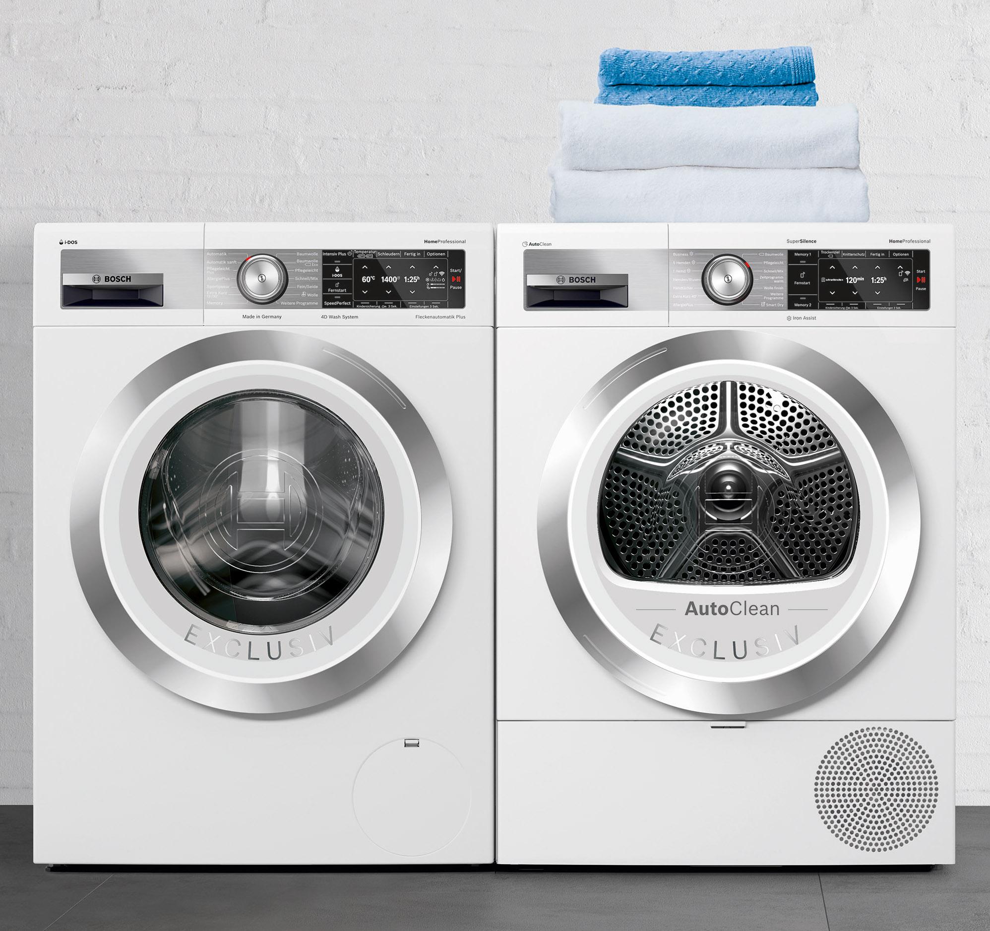 Waschmaschine und Trockner sind Teil der Bosch-Jubiläumsaktion.