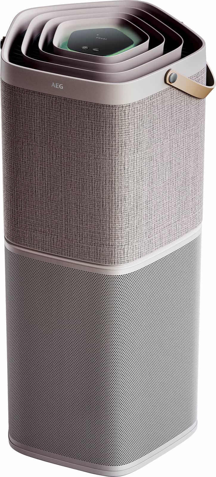 Der AX91-604GY von AEG filtert, neutralisiert und absorbiert zuverlässig sämtliche Luftverunreinigungen in Räumen bis zu 129 Quadratmetern.