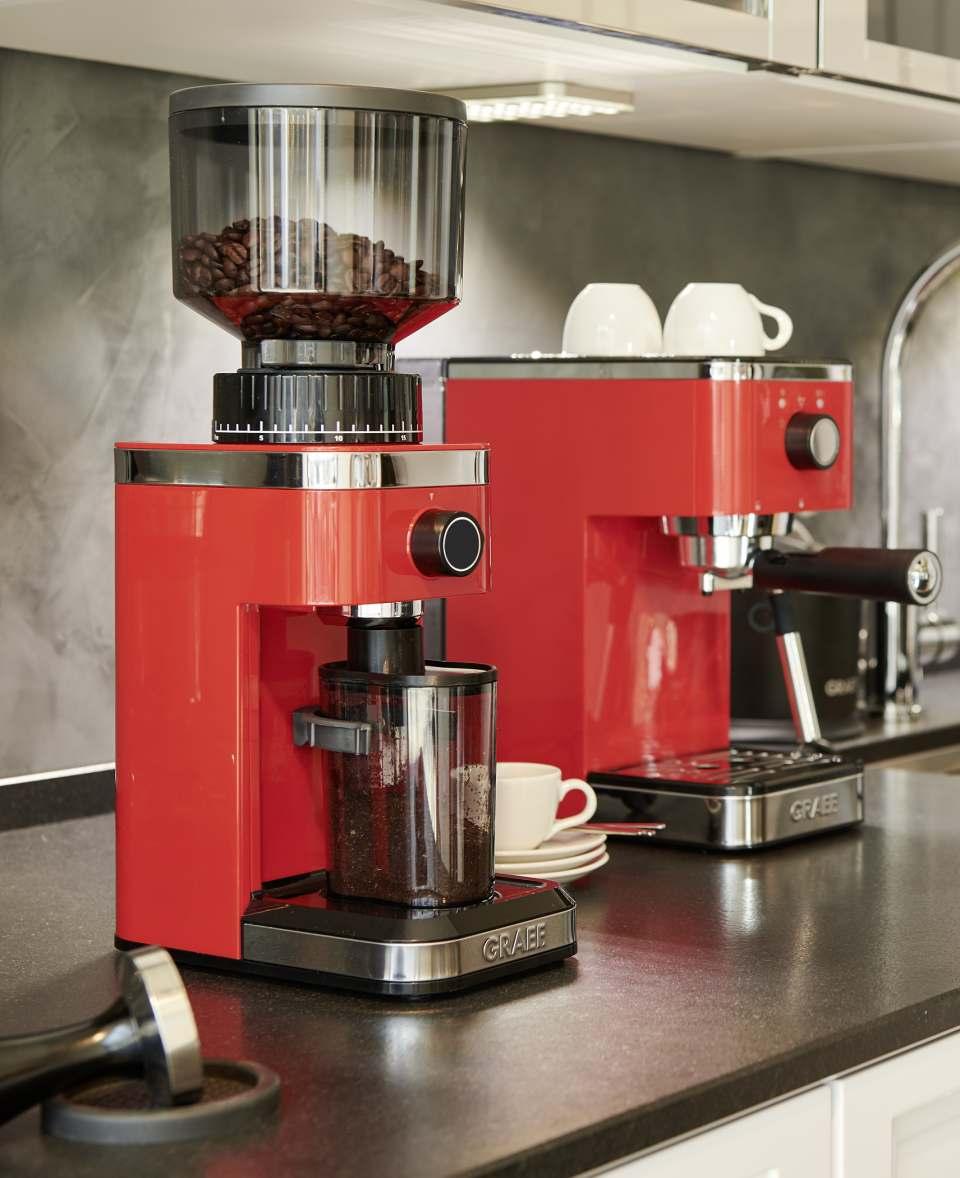 Graef Kaffeemühle CM 500 mit 140 Mahlgraden.