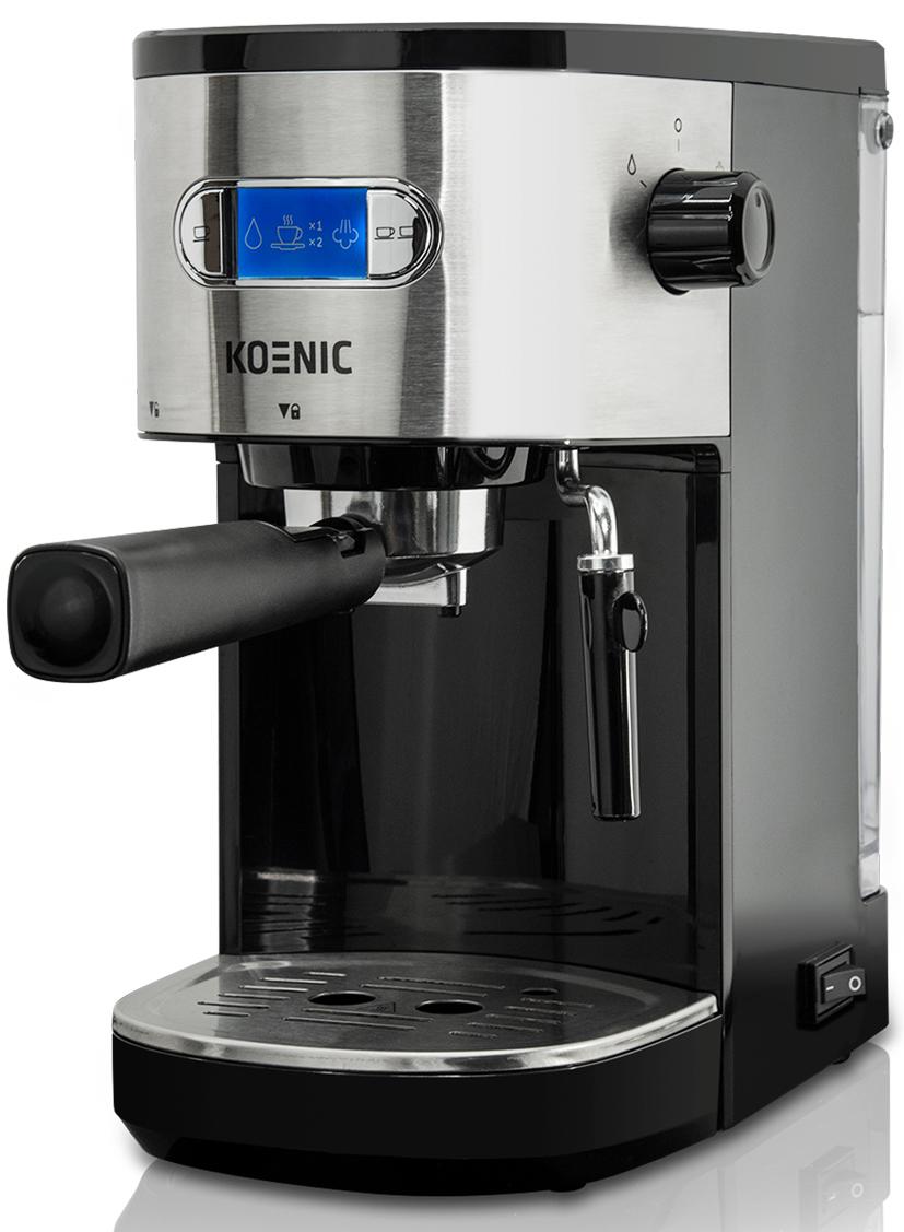 Koenic Espressomaschine KEM 2320 M mit Heißwasser-Funktion für Tee.