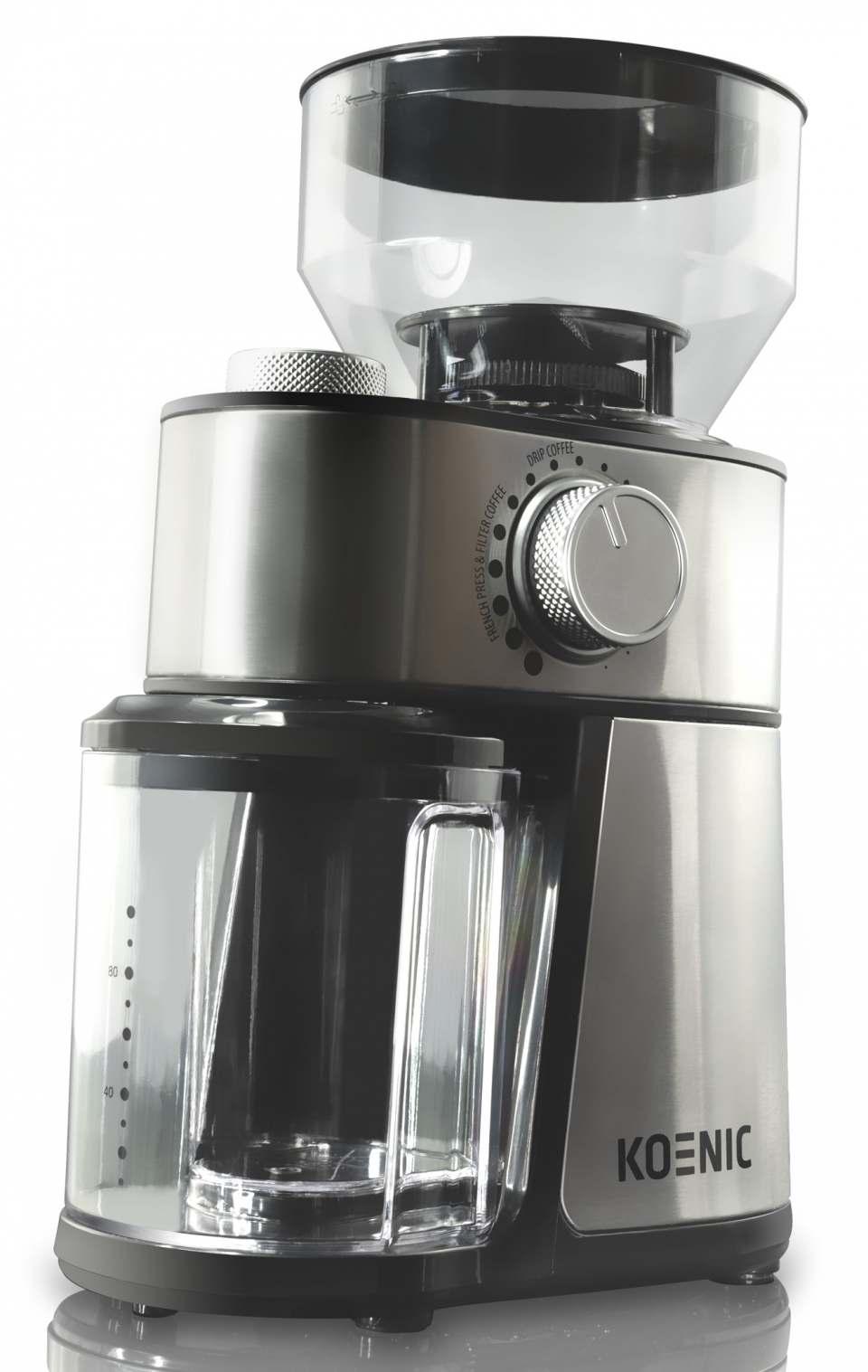 Koenic Kaffeemühle KGC 2221 M für bis zu 14 Tassen Kaffee.