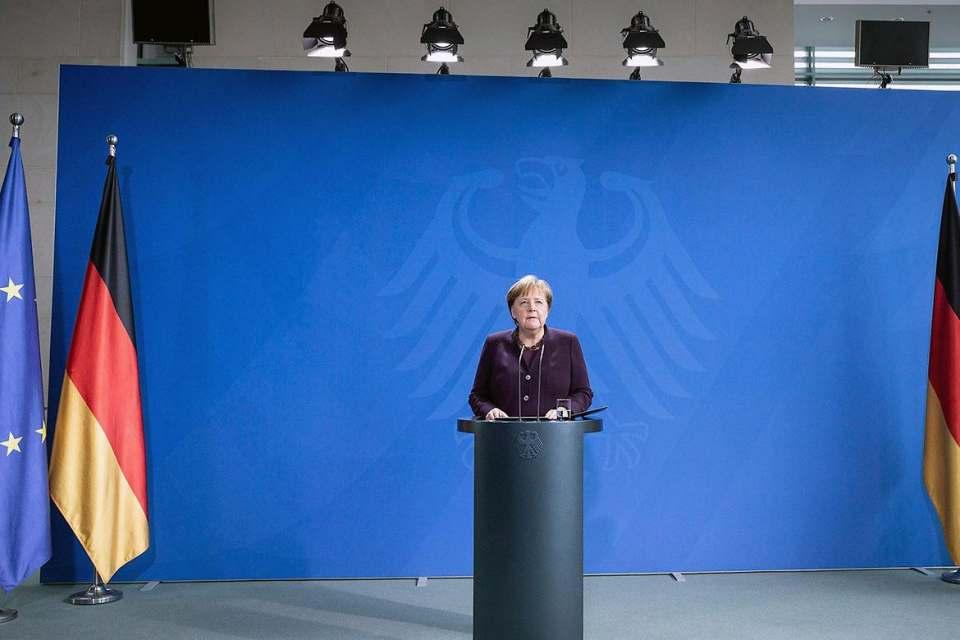 """""""Wir müssen alles dafür tun, um einen unkontrollierten Anstieg der Fallzahlen zu verhindern"""", Bundeskanzlerin Angela Merkel."""